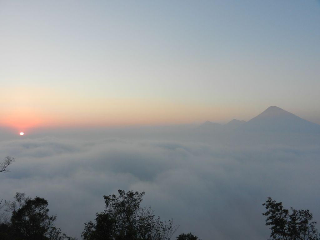 Sonnenuntergang Vulkan Pacaya