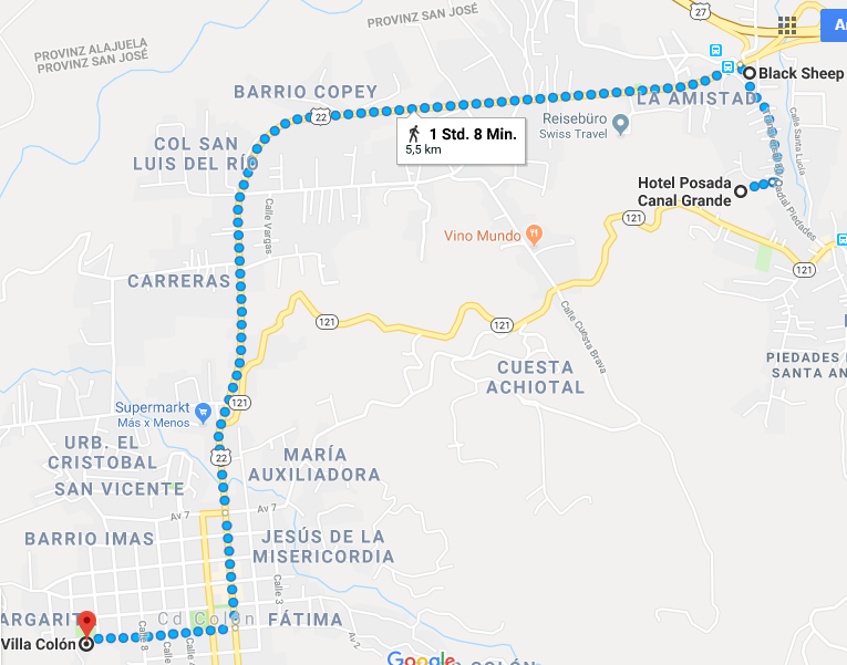 Weg zum Oveja Negra
