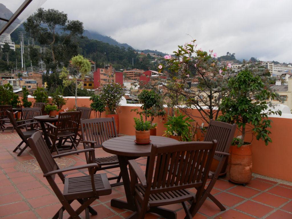 Dachterrasse des Hotel Casa Deco in Bogotá