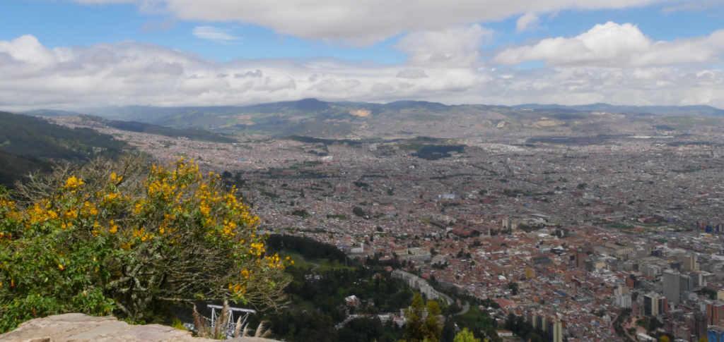 Aussicht auf Bogotá vom Cerro Monserrate