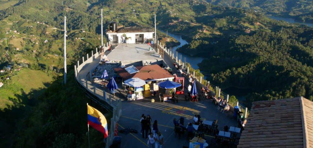 Plattform El Peñol Guatapé Kolumbien