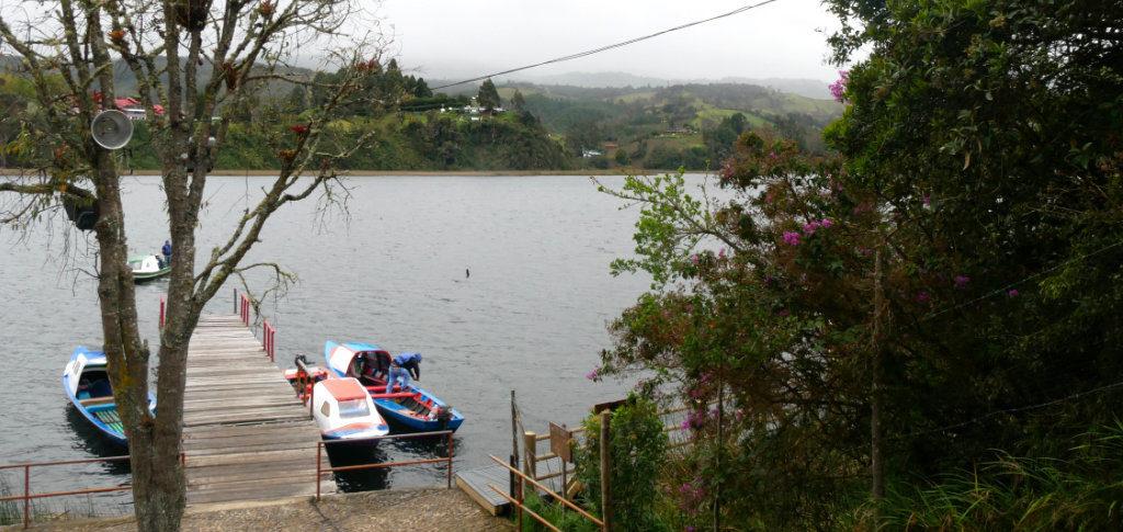 Bootsanleger Isla Corota Laguna de la Cocha Kolumbien
