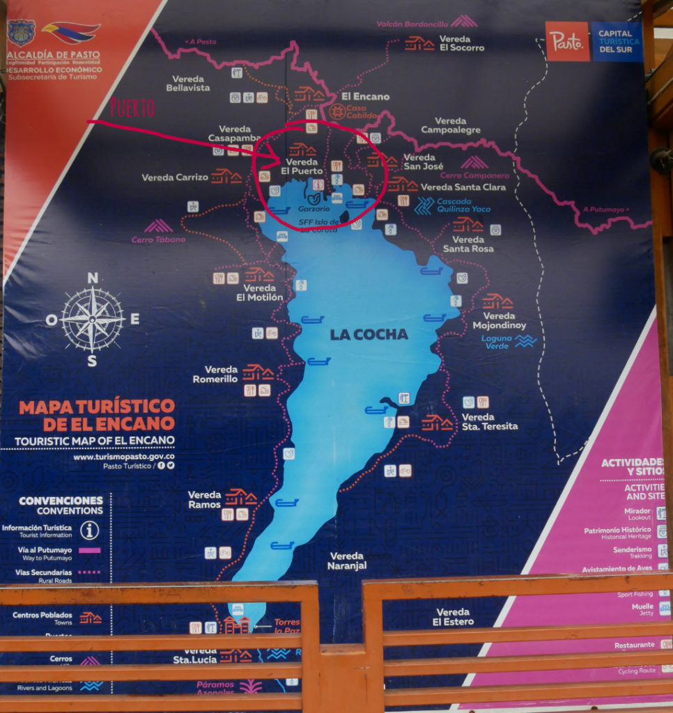 Karte Laguna de la Cocha