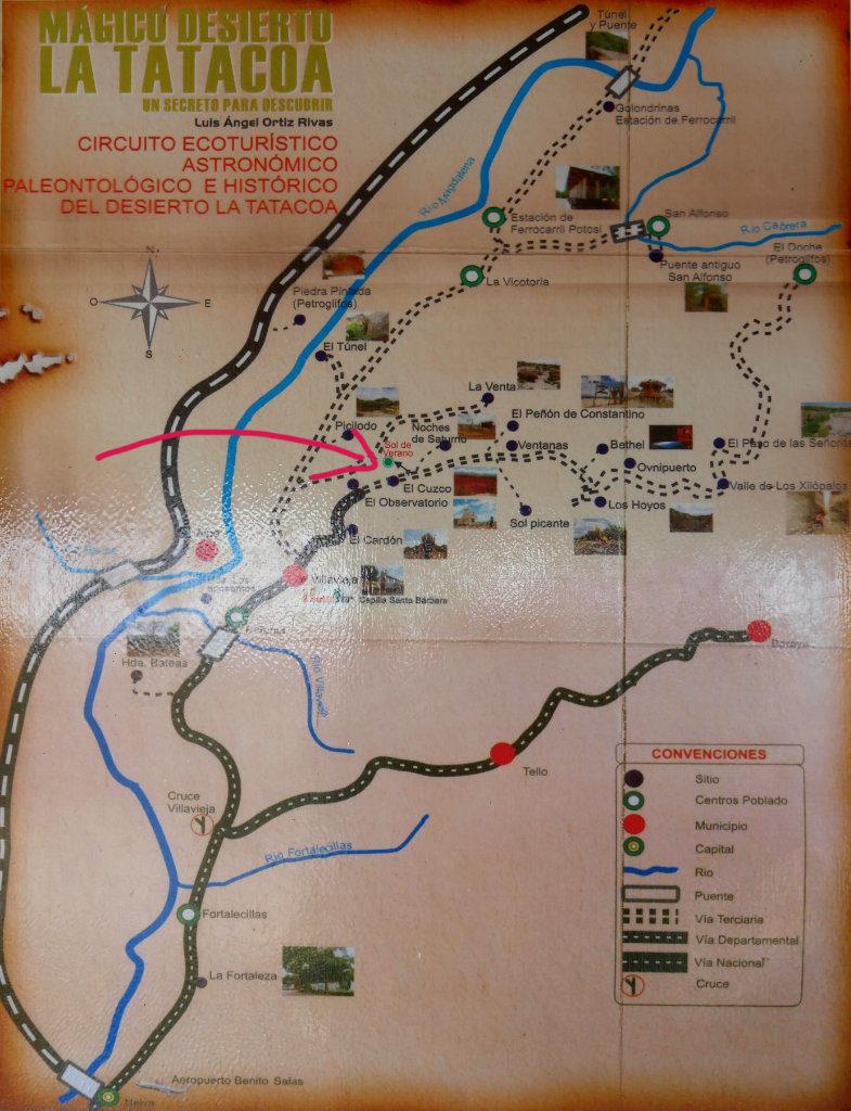 Tatacoa Wüste Karte