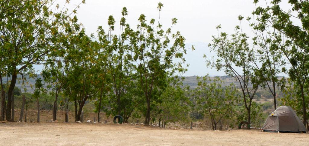 Zelten Tatacoa Kolumbien