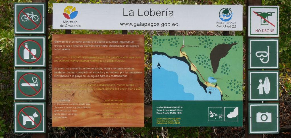Karte La Lobería