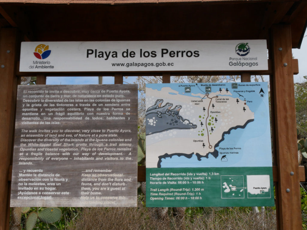Karte Playa de los Perros