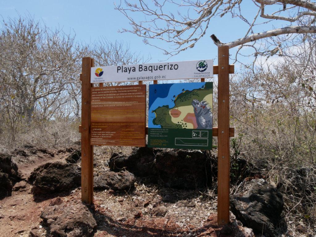 Karte zum Playa Baquerizo